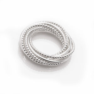 "Multiple ring ""Delhi"" in sterling silver © Yasmin Yahya"