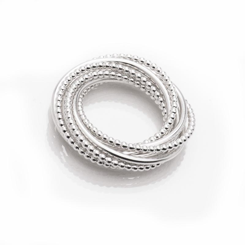 "Multiple ring ""Delhi"" in sterling silver © Yasmin Yahya"