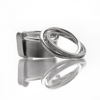 "Rings ""My Man"" sterling silver, brushed and oxidized © Yasmin Yahya"