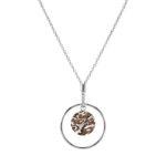 Collier « Earth » en argent et mokumé gané, ø pendentif 4 cm