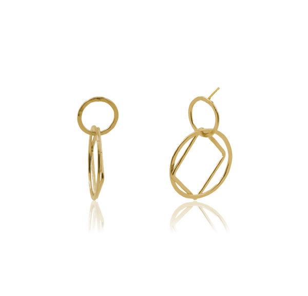Boucles d'oreilles en argent, plaqué or