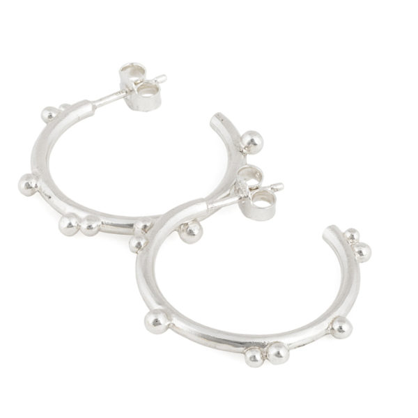 Hoops in recycled sterling silver
