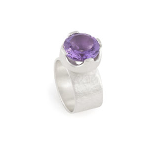 Ring PRINCESSE in Silber RJC mit Amethyst, ø 12 mm