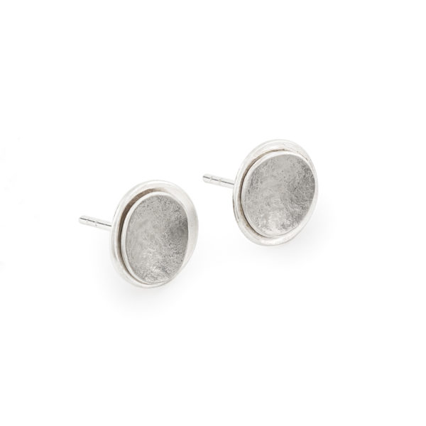 Boucles d'oreilles/puces en argent et palladium RJC, ø 12 mm