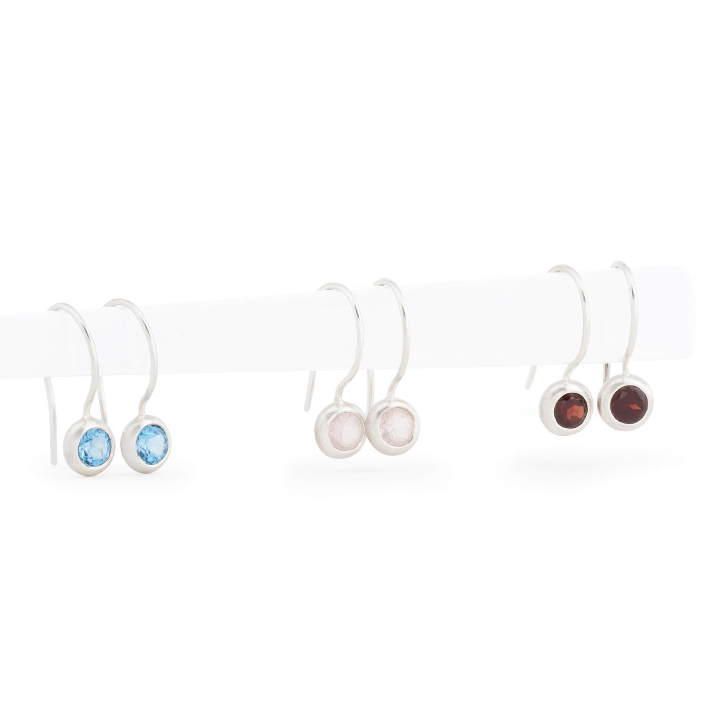 """Ohrringe """"Bubbles"""" aus nachhaltigem Silber, mit Farbsteinen"""