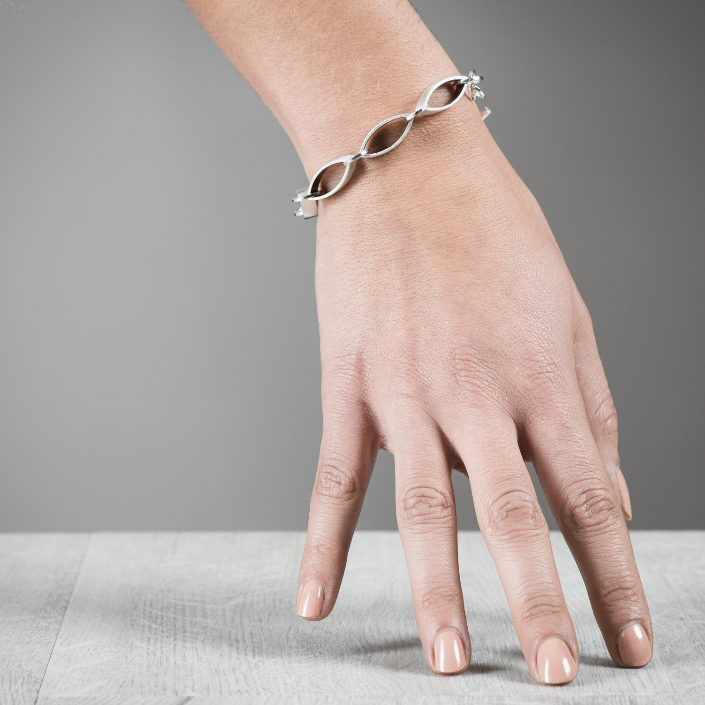 Bracelet Maille Forest en argent éthique