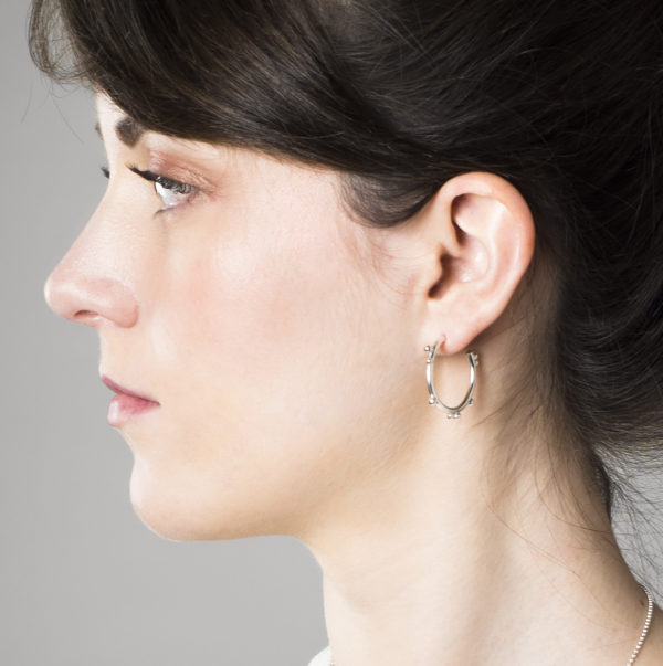 Boucles d'oreilles DELHI en argent
