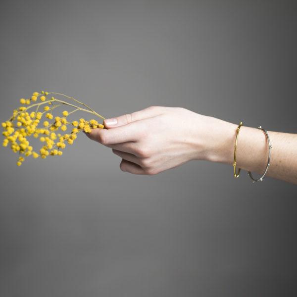 Bracelets DELHI en argent ou argent/plaqué or