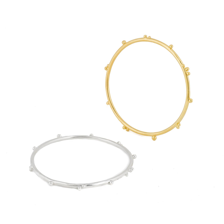 Bracelet délicat en argent ou argent/plaqué or 24 ct