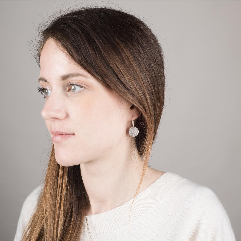 Boucles d'oreilles DOTS, version martelé