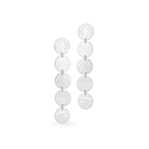 Ohrringe DOTS aus nachhaltigem Silber, Länge 5 cm