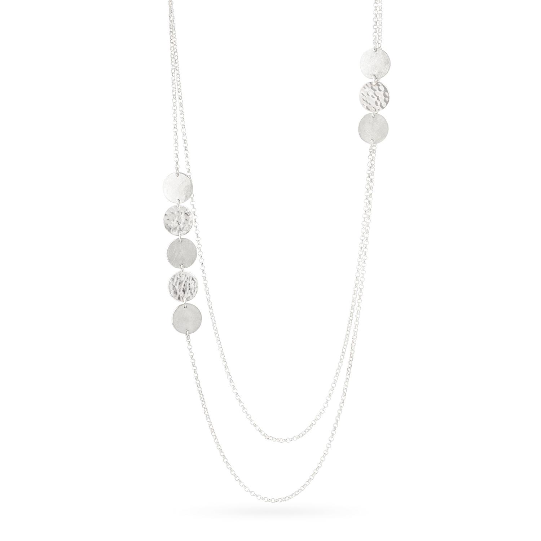 Delikate Halskette DOTS aus nachhaltigem Silber, Länge 51 cm